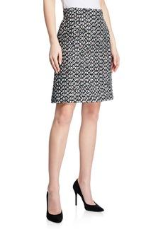 Escada Multi-Tweed A-Line Mini Skirt