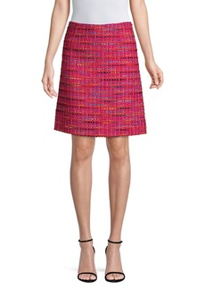 Escada Multicolor Tweed Skirt