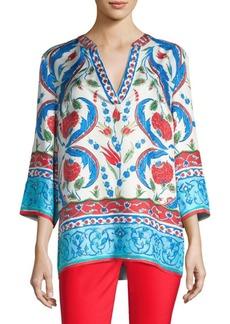 Escada Nai Print Silk Tunic