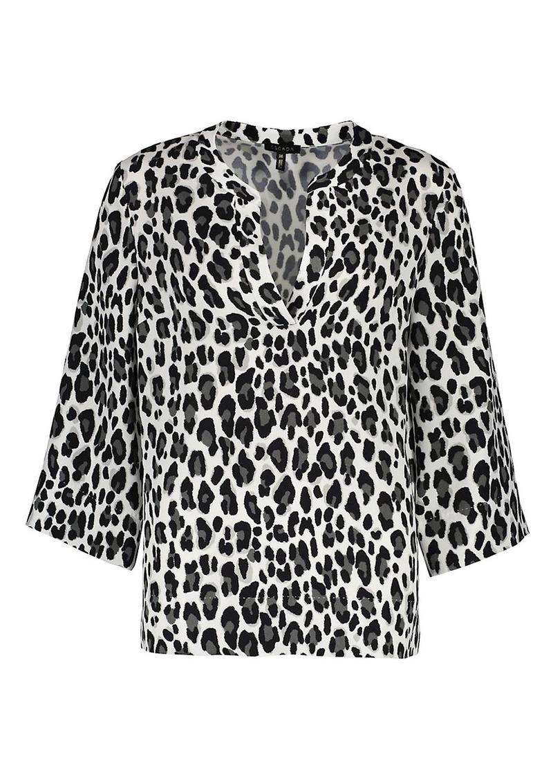 Escada Nai Snow Leopard- Print Tunic