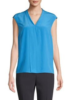 Escada Nalsilk Pleat Front Top