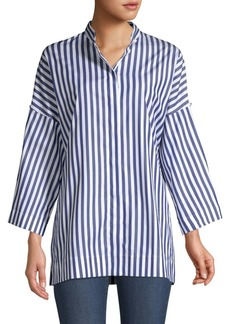 Escada Nantibesa Striped Cotton Tunic Top