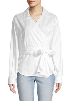 Escada Navari Wrap Cotton Blouse