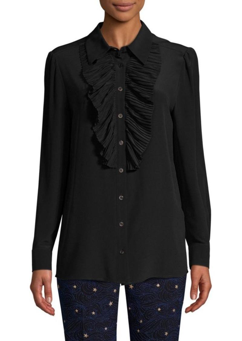 Escada Neel Silk Pleat-Front Blouse