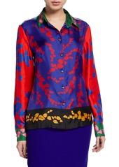 Escada Nesisa Silk Multicolor Classic Blouse
