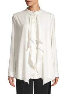 Escada Nhiutura Waterfall Front Blouse