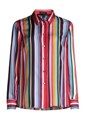 Escada Nicoli Silk Striped Blouse