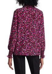 Escada Noarri Leopard Print Silk Blouse
