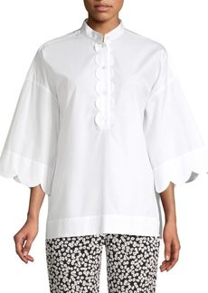 Escada Nocket Scallop Sleeve Blouse