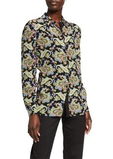Escada Nullea Paisley-Print Silk Shirt