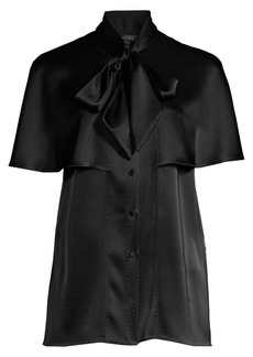 Escada Nusahi Satin Cape Blouse