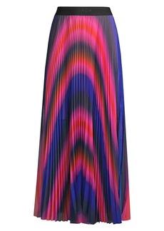 Escada Ombre Pleated Maxi Skirt