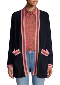Escada Open-Front Wool Cardigan