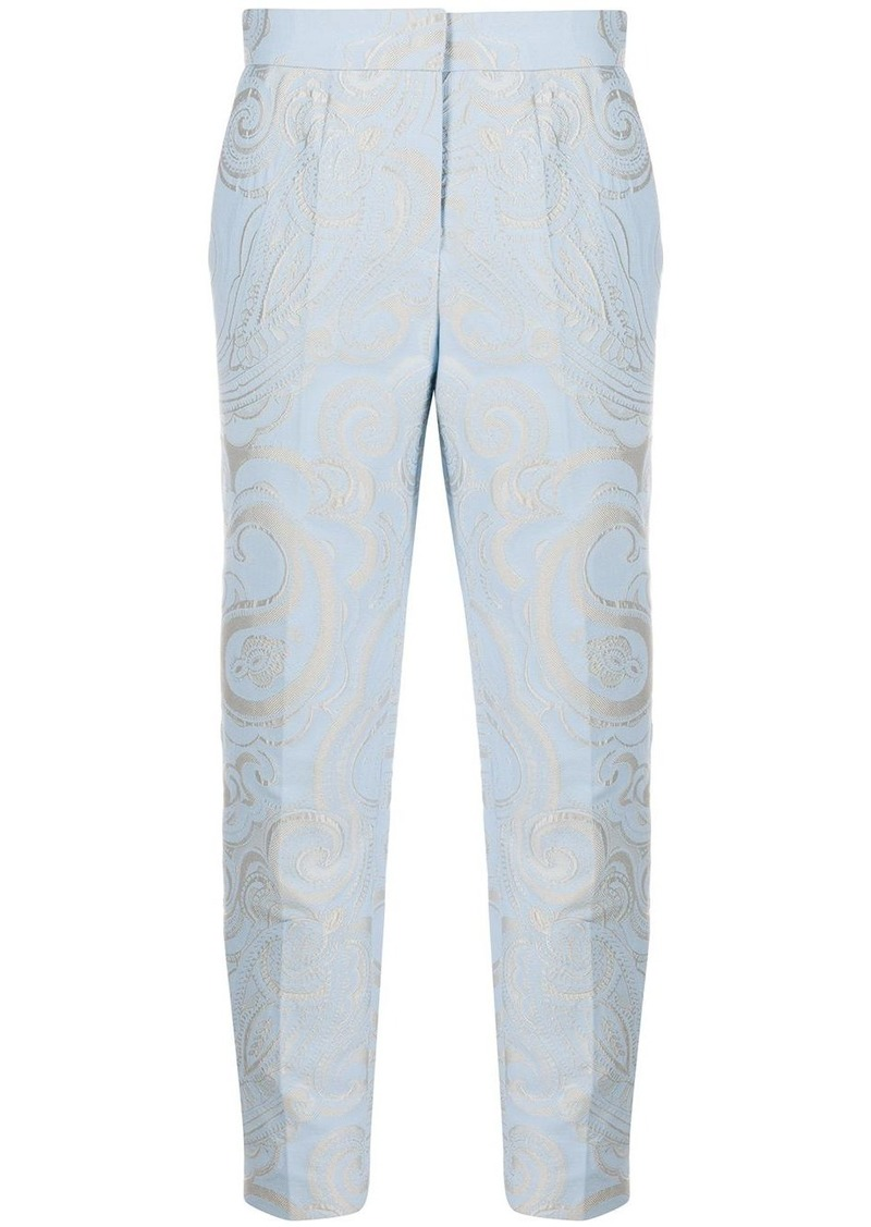 Escada paisley print cropped trousers