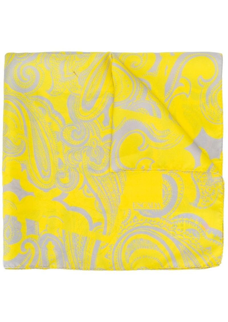 Escada paisley-print neckerchief scarf