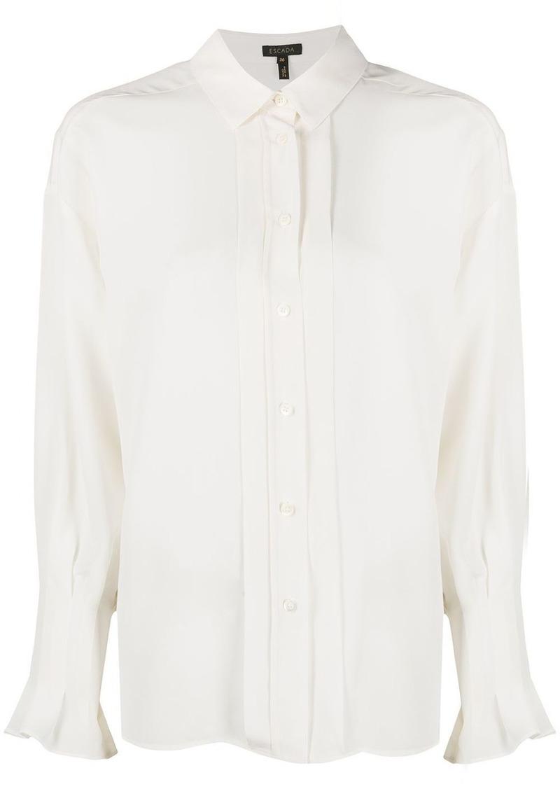 Escada pleated placket silk shirt