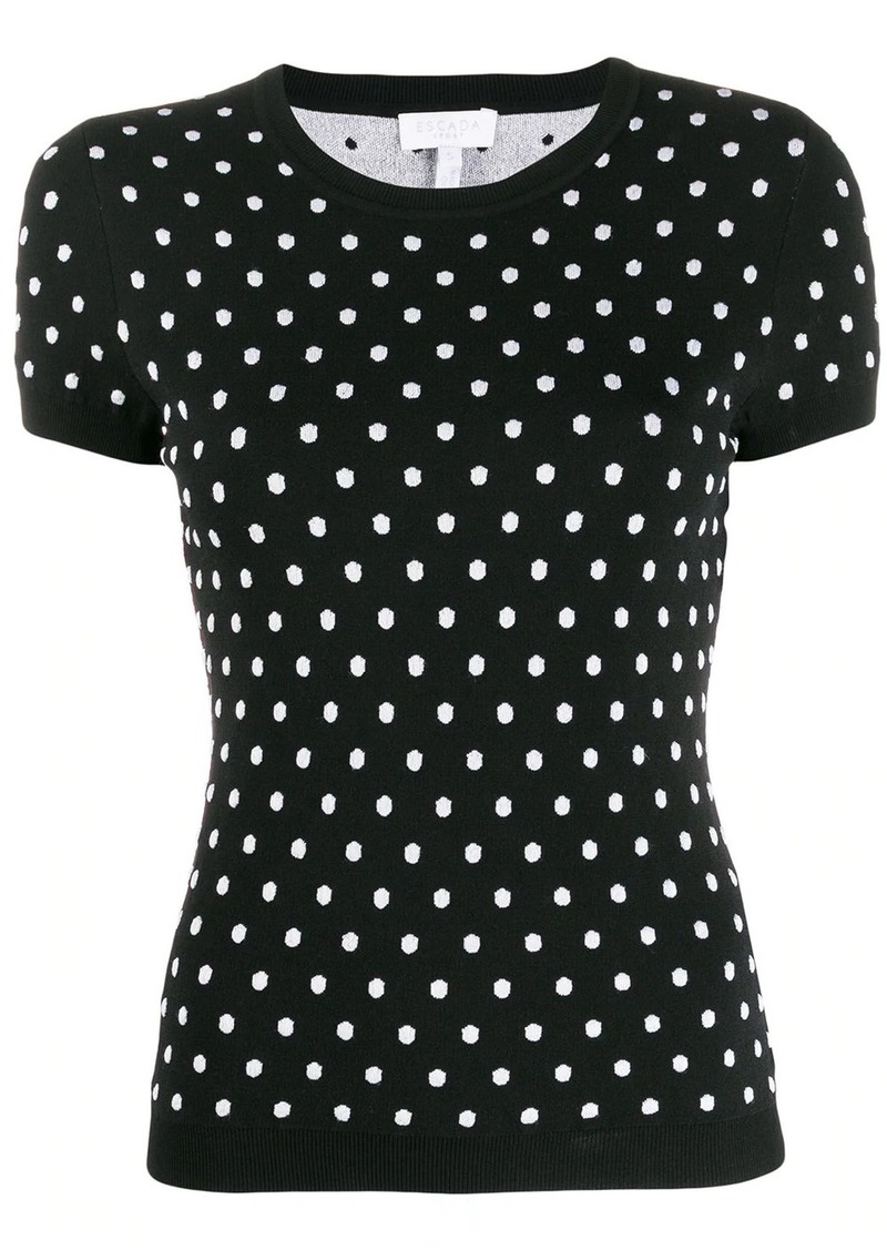 Escada polka-dot knit top