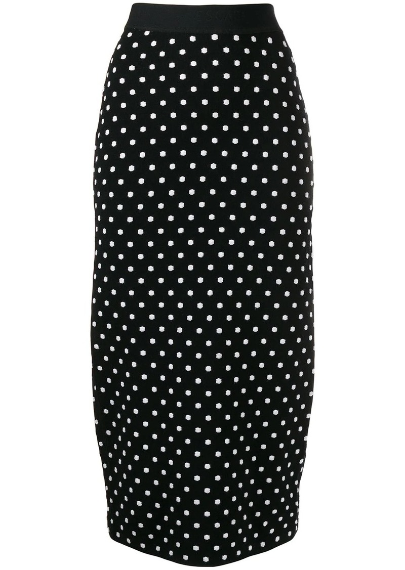 Escada polka-dot pencil skirt
