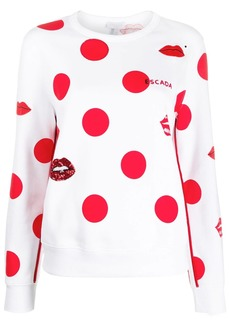 Escada polka-dot sequin jumper