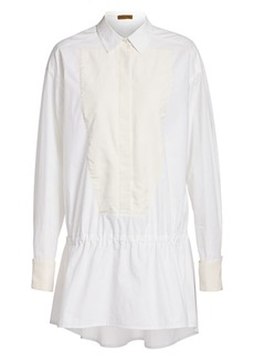 Escada Poplin Drawstring Blouse