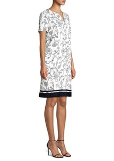 Escada Printed Shift Dress