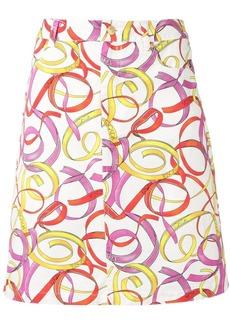 Escada printed straight skirt