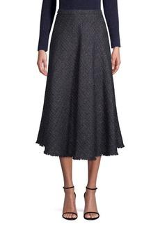 Escada Raffini Tweed Circle Midi Skirt