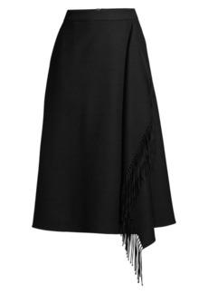 Escada Rakama Fringe Wool A-Line Skirt