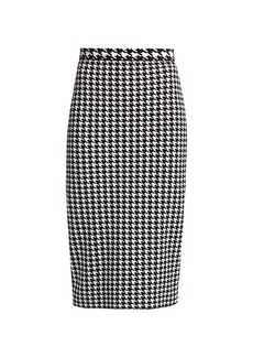 Escada Ralit Houndstooth Knit Pencil Skirt