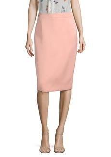 Escada Ravas Duchess Satin Pencil Skirt