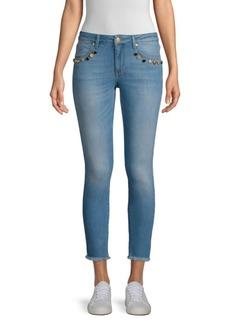 Escada Raw Hem Skinny Jeans