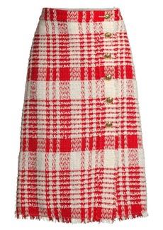 Escada Reeat Fringe Tweed Skirt