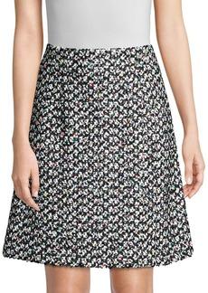 Escada Relika Tweed A-Line Skirt