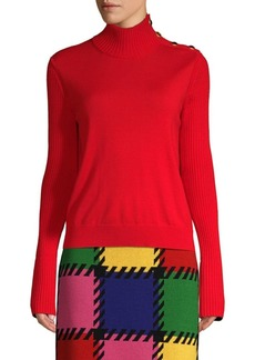 Escada Rib-Knit Turtleneck Sweater