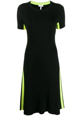 Escada ribbed fitted dress