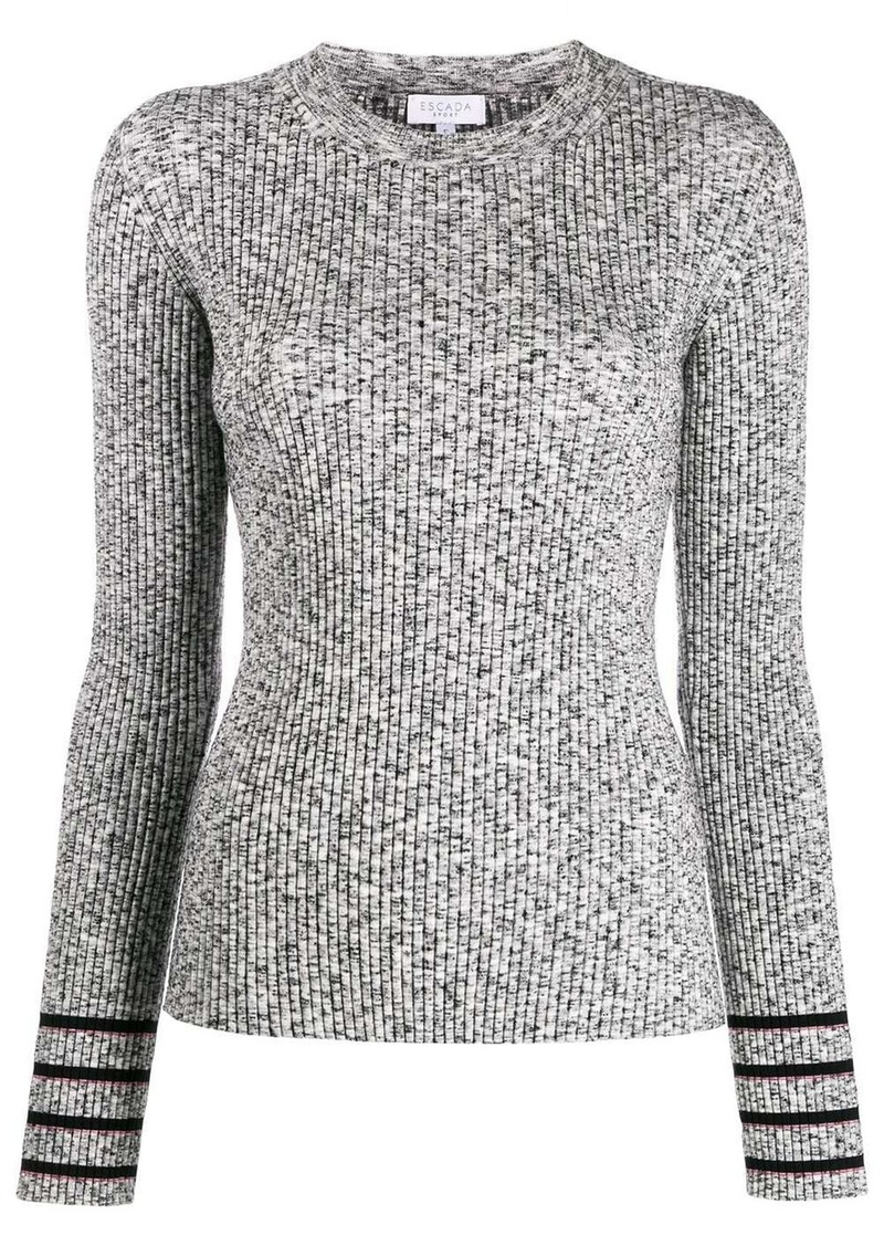 Escada ribbed knit top