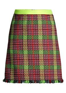 Escada Ringa Tweed A-Line Mini Skirt