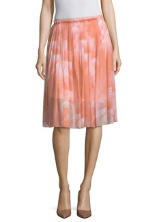 Escada Rombra Pleated Skirt