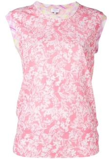 Escada round neck printed top