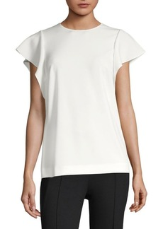 Escada Ruffle Short Sleeve Blouse