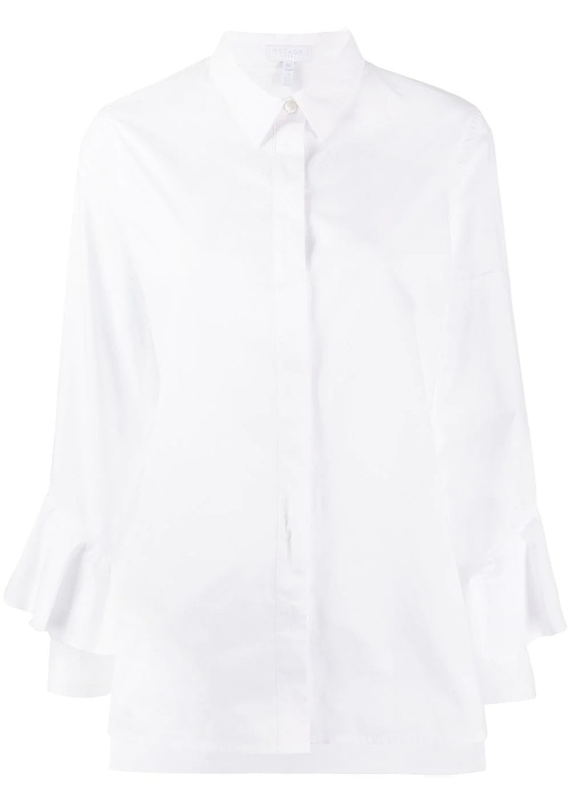 Escada ruffled sleeved shirt