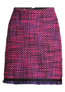 Escada Ruge Multi-Tweed A-Line Skirt