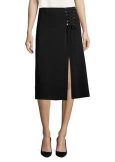 Escada Rumerali Lace-Up Skirt