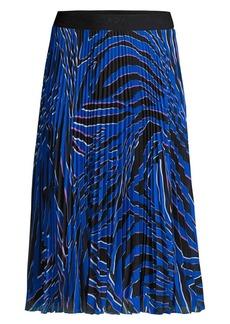 Escada Ryme Pleated Print Skirt
