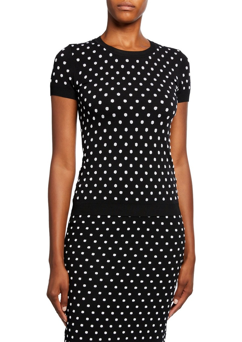 Escada Salaria Dotted-Knit Top