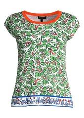 Escada Saneor Leaf-Print Knit Tee