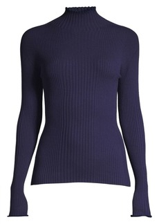 Escada Sashada Ribbed Turtleneck Sweater