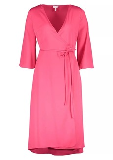Escada Satin Wrap Dress