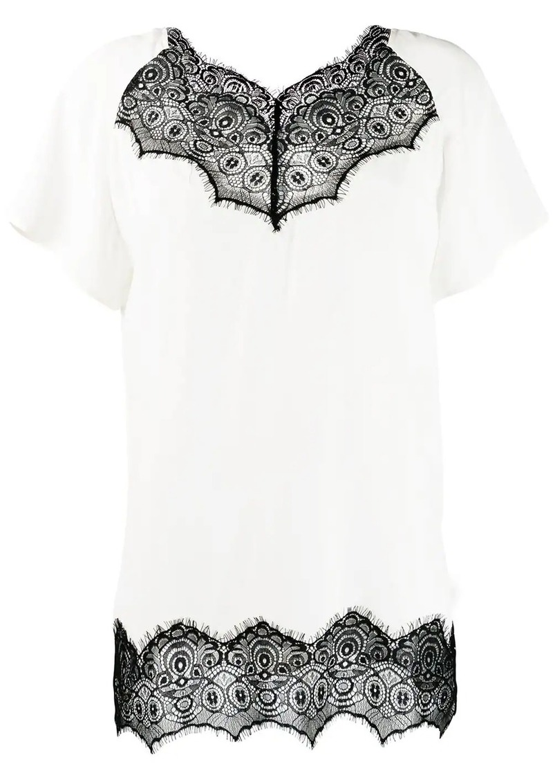 Escada scalloped lace T-shirt
