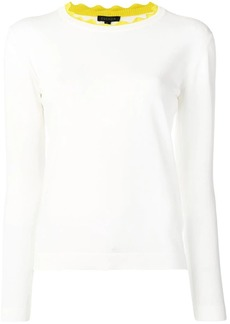 Escada scalloped neck knit top